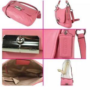 "Coach Kristin leather Rose satchel ""Authentic"""